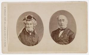 Portretten van Jacob de Vos (1803-1878) en Abrahamina Henriette Wurfbain (1808-1883)