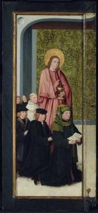 De H. Johannes de Evangelist met Franco van Langhel en diens zonen (binnenzijde: de H. Petrus met Pieter van Os)