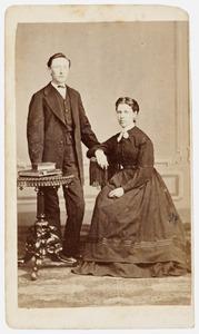 Portret van Jan Egens van Iterson (1839-1909) en Margaretha Johanna Horch (1946-1922)