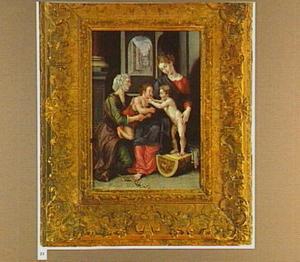 Maria met kind, Johannes de Doper als kind en de H. Elizabeth