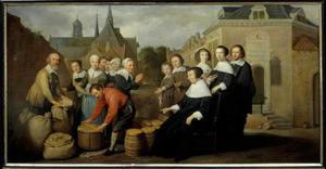 De jaarlijkse voedseluitdeling aan de armen door Maria van Pallaes ( -1664)