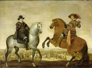 Ruiterportret van Maurits (1567-1625) en Frederik Hendrik (1584-1647) van Oranje-Nassau
