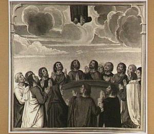 De hemelvaart van Christus (detail van het rechterluik)
