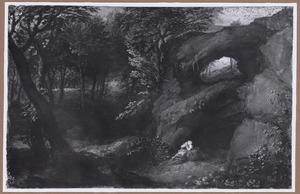 Boslandschap met boetende H. Maria Magdalena