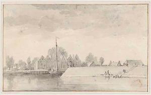 Gezicht op de haven van Viane op Schouwen-Duiveland