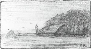 Sheepfold with haystack