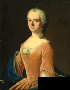 Portret van Agatha Louise de Bye (1723-1752)