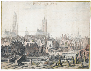 Delft na de explosie van 12 oktober 1654