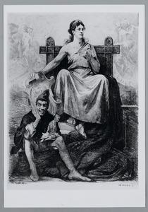 Ets voor het feestprogramma van de kunstenaarsvereniging Sint Lucas, 2 februari 1884