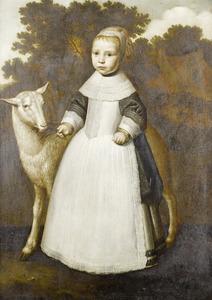 Portret van een onbekend meisje met een schaap