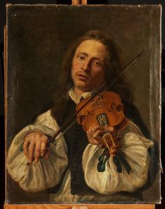 Vioolspelende man: het Gehoor