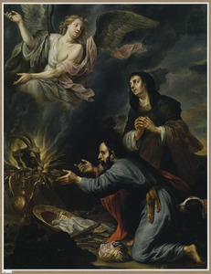 Het offer van Manoach en het vertrek van de engel  (Richteren 13:19)