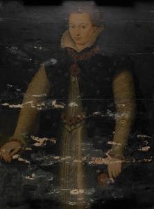 Portret van Anna van Saksen (1544-1577), Gravin van Nassau