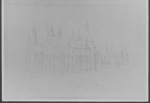 Achter- en linkerzijde van kasteel Buren