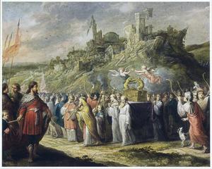 De ark des verbonds wordt rond de muren van Jericho gedragen (Jozua 6)