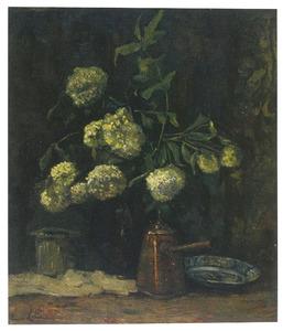 Hortensia's in een pot