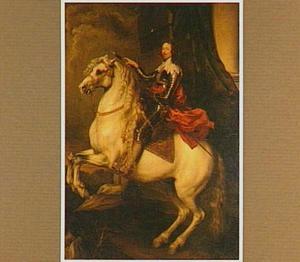 Portret van prins Tommaso Francesco di Savoy-Carignano (1596-1656) op een steigerend paard