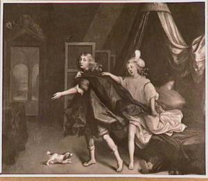 Jozef  wordt door de vrouw van Potifar belaagd (Genesis 39:7)