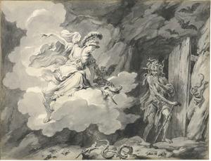 Minerva bezoekt de grot van de Afgunst (Metamorfosen)