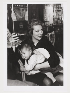Portret van Marlene Dumas en haar dochter Helena