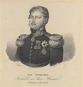 Portret van Bernhard van Saksen-Weimar-Eisenach (1792-1862)