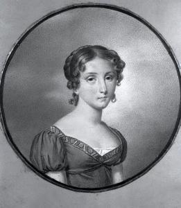 Portret van Paulina Sophia Albertina de Bargeton de Verclaux (1794-1849)