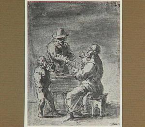 Lazarillo is getuige van de ruzie tussen de aflaatverkoper en zijn trawant (Lazarillo de Tormes dl. 1, cap. 16, p. 44)