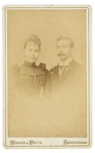 Portret van Johannes Peter Gottfried Westhoff (1867-1910) en Dorothea Maria Abrahamina van der Mijll Dekker (1870-1944)