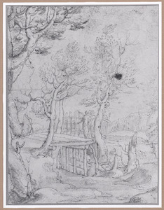 Landschap met Tobias en de engel op weg naar Ecbatana (Tobit 4-6)