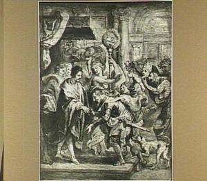 De verzoening van koning Hendrik III en Hendrik van Navarre, 30 april 1589