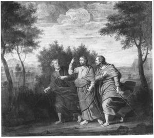 De verschijning van Christus aan zijn discepelen op weg naar Emmaus