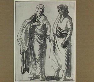 Mannen- en vrouwenfiguur, staand