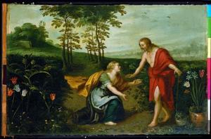 Christus verschijnt aan Maria Magdalena als tuinman - Noli me tangere