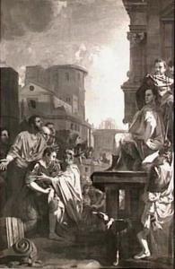 Papirius laat aan de jonge Fabius Maximus genade voor recht gelden