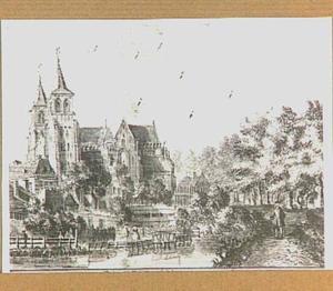 De Walburgkerk en de Lauwersgracht te Arnhem