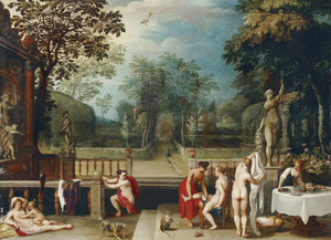 Diana tijdens haar toilet belaagd door Venus en Amor