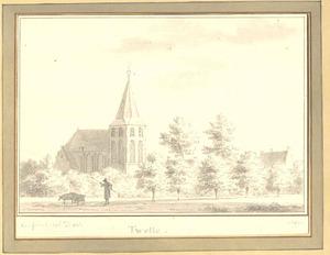 Twello, gezicht in het dorp met de kerk