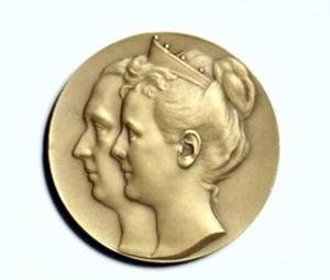 Dubbelportret van koningin Wilhelmina (1880-1962) en prins Hendrik van Mecklenburg-Schwerin (1876-1934)
