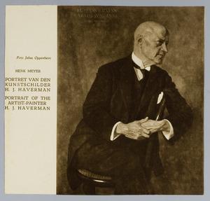 Portret van de kunstenaar H.J. Haverman (1857-1928)