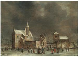 Kasteel Wulven in een winters landschap