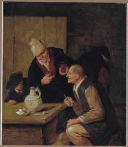 Rokende en drinkende boeren in een herberg