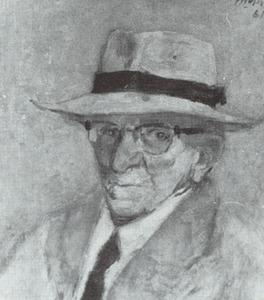 Portret van Jacobus Cornelis Wijnandus Cossaar (1874-1966)