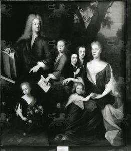 Groepsportret van Anthony Coulon (1681-?) met zijn gezin