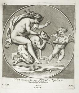 Pan mishandeld door Cupido en Venus (pl. XXXIX)