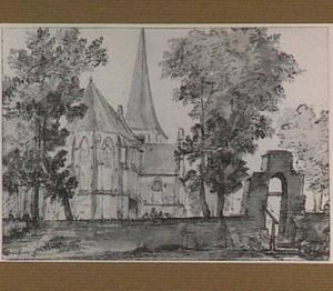 Oosterbeek, gezicht op de kerk