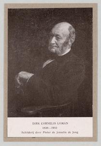 Portret van Dirk Cornelis Loman (1828-1903)