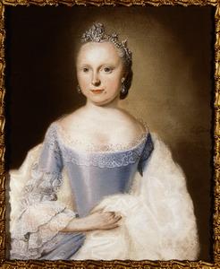 Portret van Carolina van Oranje- Nassau (1743-1787)