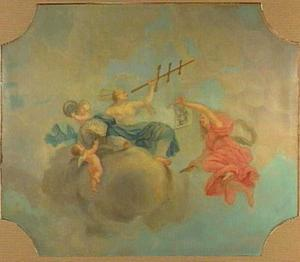 Plafondschildering met allegorie op de scheepvaart