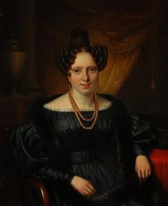 Portret van een vrouw, mogelijk Elise Martine Marie Labee (1810-1886)