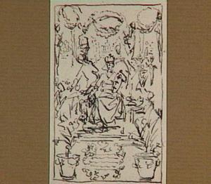 Ontwerp voor titelpagina in  J. Commelin, Horti Medici Amstelodamensis Rariorum Plantarum Historia, dl. 1, 1697